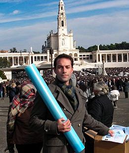 Ihre Gebetsanliegen und Kerze in Fatima